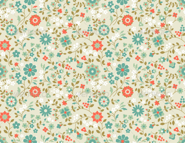 GraphicRiver Seamless Floral Pattern 4687435