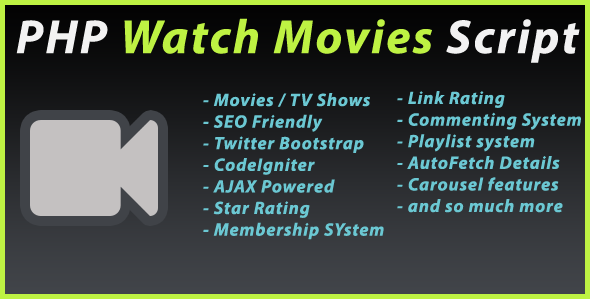 CodeCanyon PHP Watch Movies Script 4687607