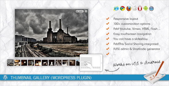Thumbnail Gallery (WordPress Plugin) - CodeCanyon Item for Sale