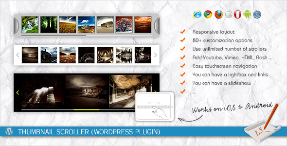 Thumbnail Scroller (WordPress Plugin) - CodeCanyon Item for Sale