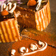Decorated chocolate cake and knife - PhotoDune Item for Sale