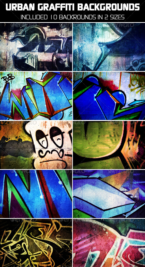 Urban Graffiti Backgrounds_V2 - Urban Backgrounds