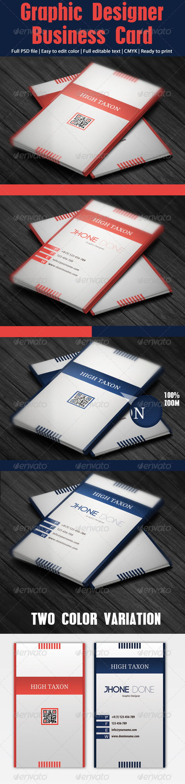 Graphic Designer Business Cards - Corporate Business Cards