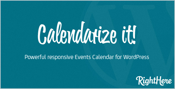 Calendarize it for WordPress - CodeCanyon Item for Sale