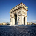Famous view of the Arc de Triomphe - PhotoDune Item for Sale