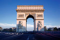 Horizontal view of famous Arc de Triomphe - PhotoDune Item for Sale