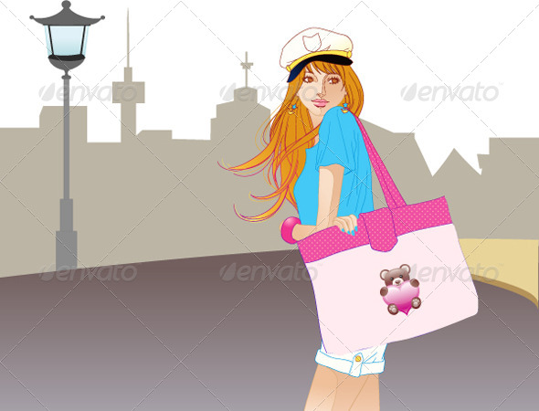GraphicRiver City Fashion Girl 4690297