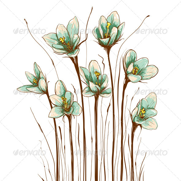 GraphicRiver Vintage Flowers Composition 4690416