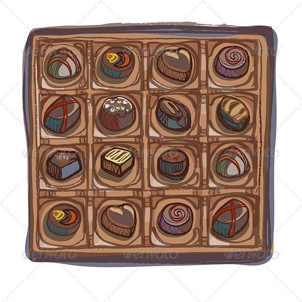 GraphicRiver Chocolate Selection Box 4690902