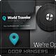 World Traveler Door Hangers - GraphicRiver Item for Sale
