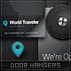 World Traveler Door Hangers - GraphicRiver Item for Sale