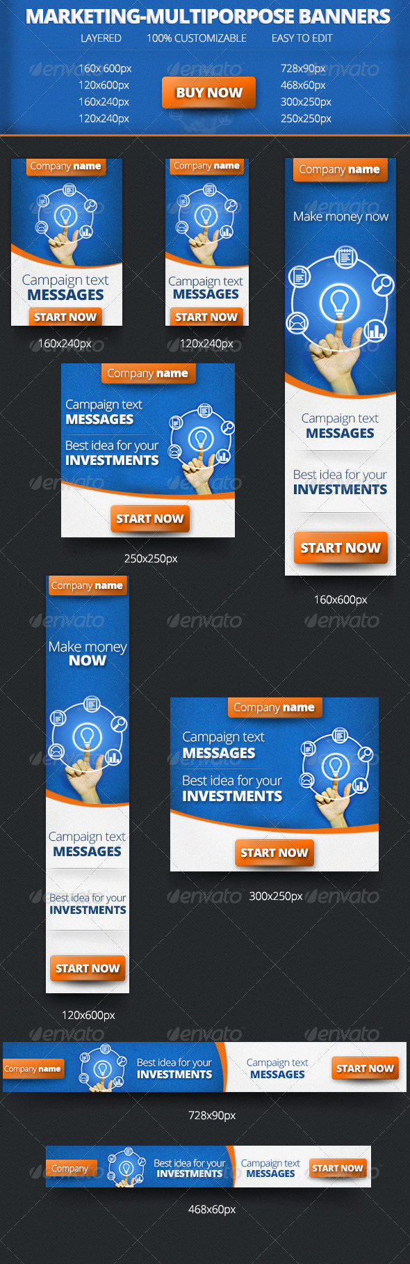Marketing-Multiporpose Banners - Banners & Ads Web Elements