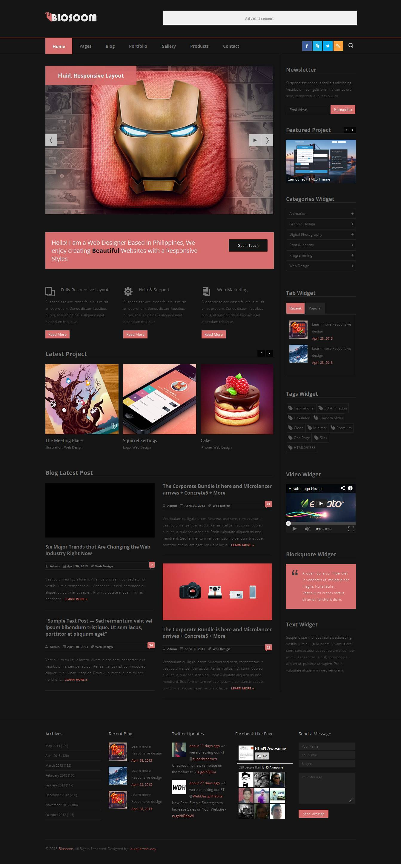 Blosoom - Responsive Business HTML5 Template