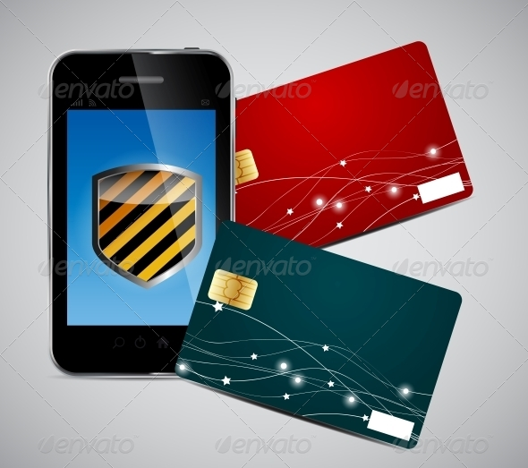 GraphicRiver Credit Card and Phone Vector Illustration 4692399