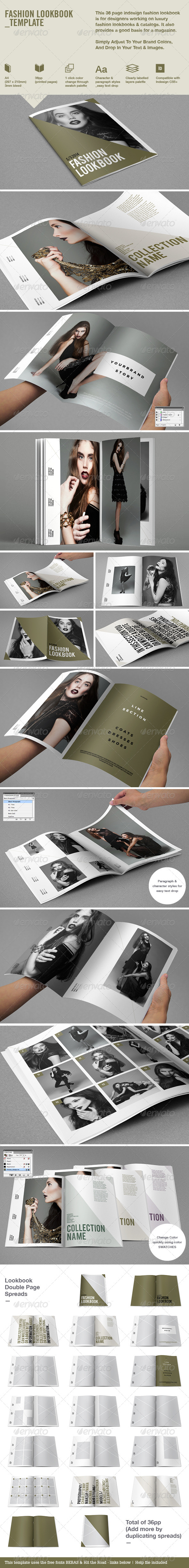 Fashion Lookbook - Brochures Print Templates