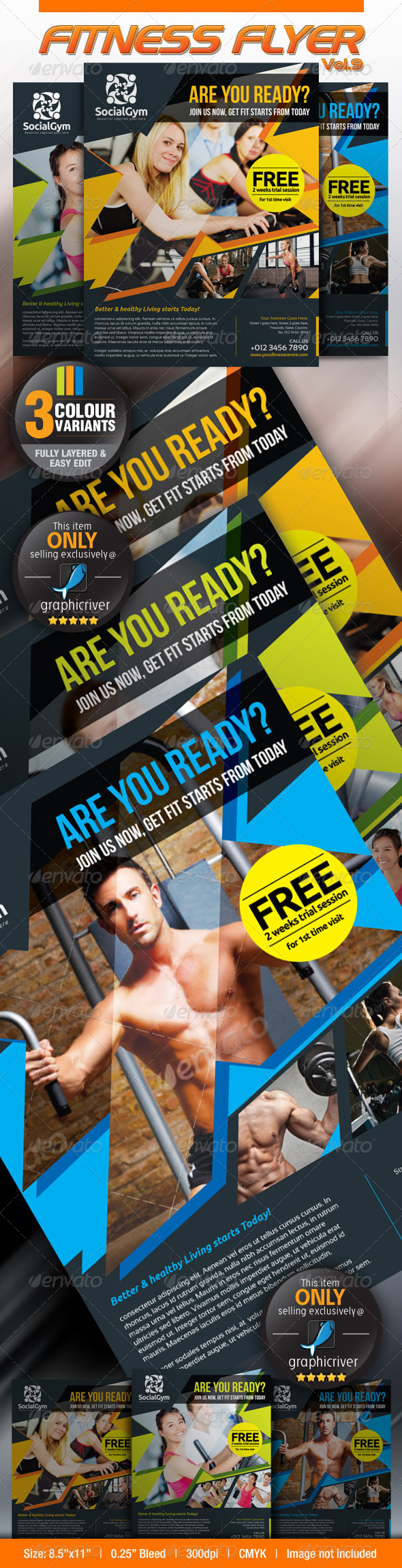 GraphicRiver Fitness Flyer Vol.9 4620679