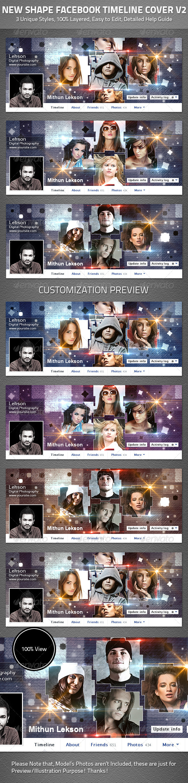 GraphicRiver New Shape Facebook Timeline Cover V2 4693675