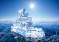 Ice ship on winter Baical - PhotoDune Item for Sale