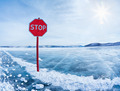 Stop traffic sign on Baikal - PhotoDune Item for Sale