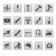 Tools Icons on Gray Squares - GraphicRiver Item for Sale