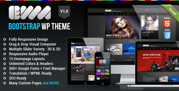 ThemeForest EWA Bootstrap Multi-Purpose Wordpress Theme 4661526