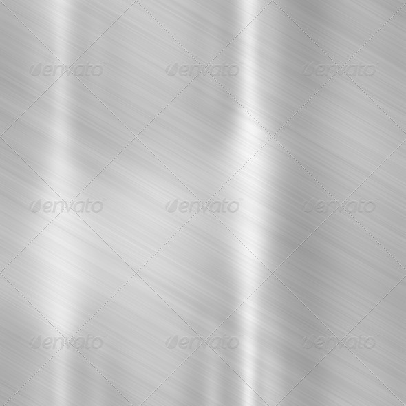 Brushed aluminum metallic plate - Stock Photo - Images