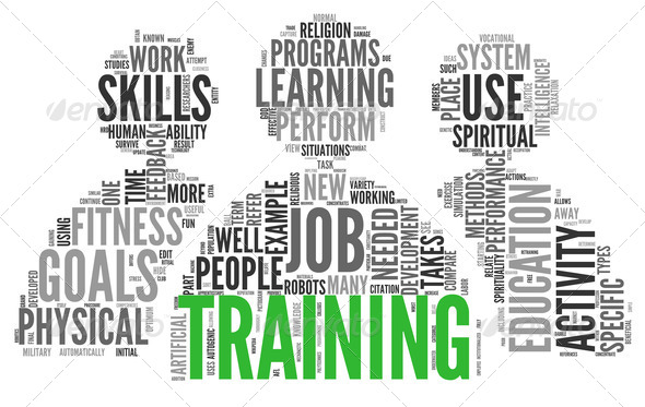 Training and education related words concept - Stock Photo - Images