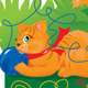 Seamless Border for Children - Cat  - GraphicRiver Item for Sale