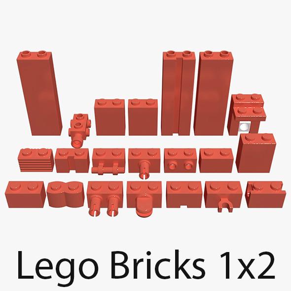 3DOcean Lego Bricks 1x2 4695374