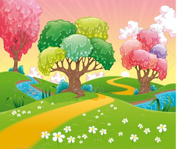 GraphicRiver Fantasy Landscape 4695985