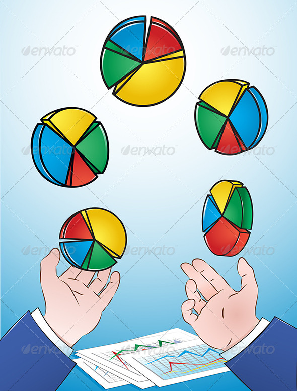 GraphicRiver Juggling Pie Charts 4696002