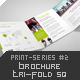 Brochure Tri-Fold Square Print-Series #4 - GraphicRiver Item for Sale