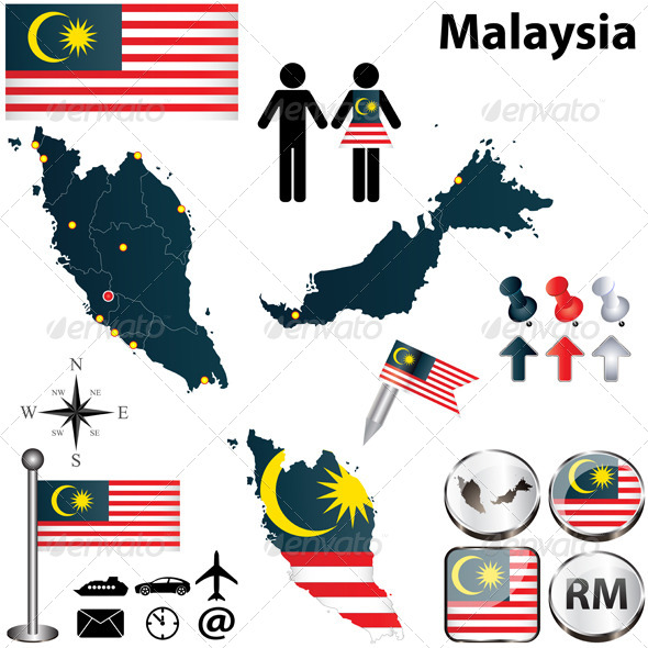 GraphicRiver Map of Malaysia 4696907