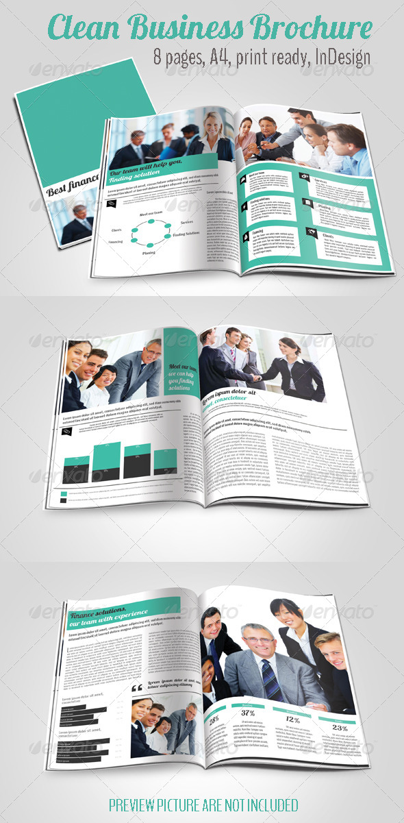 GraphicRiver Clean Business Brochure 4697322