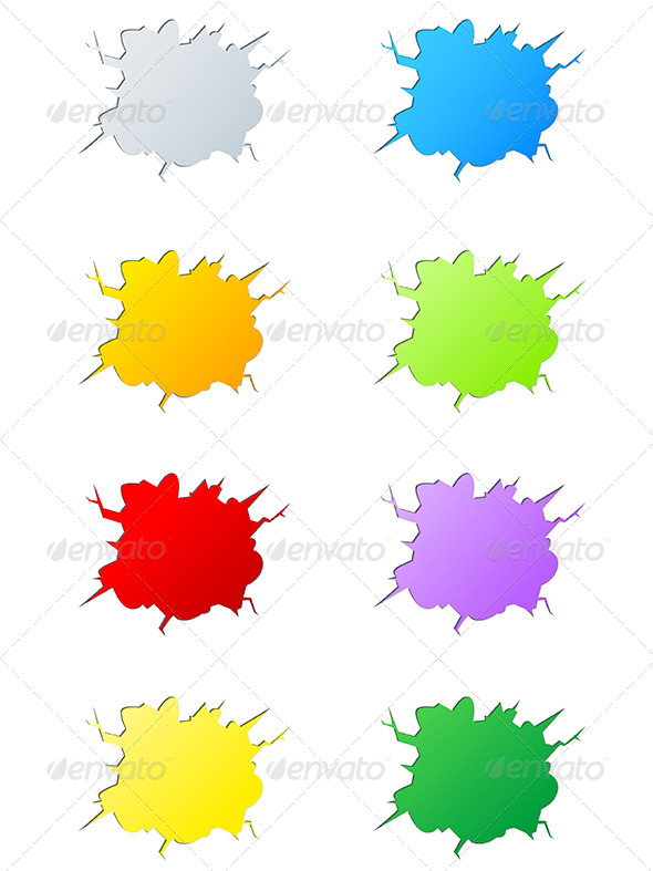 GraphicRiver Set of Vector Cracks 4697545