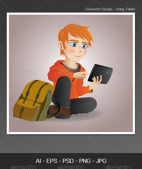 GraphicRiver Character Design Using Tablet 4697547