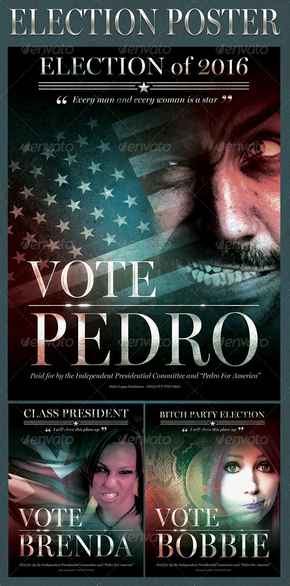 Election Poster - Flyers Print Templates