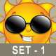 Sun Character Thumbs Up - GraphicRiver Item for Sale