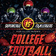 College Football Flyer Template - GraphicRiver Item for Sale