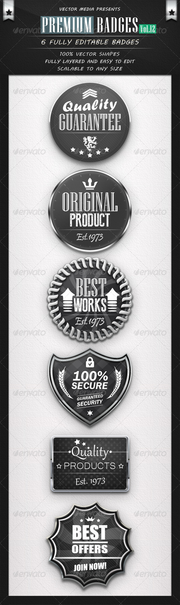 GraphicRiver Premium Badges Vol.12 4699344