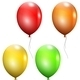Set of Multicolored Balloons - GraphicRiver Item for Sale