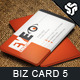 Business Card Design 5 - GraphicRiver Item for Sale