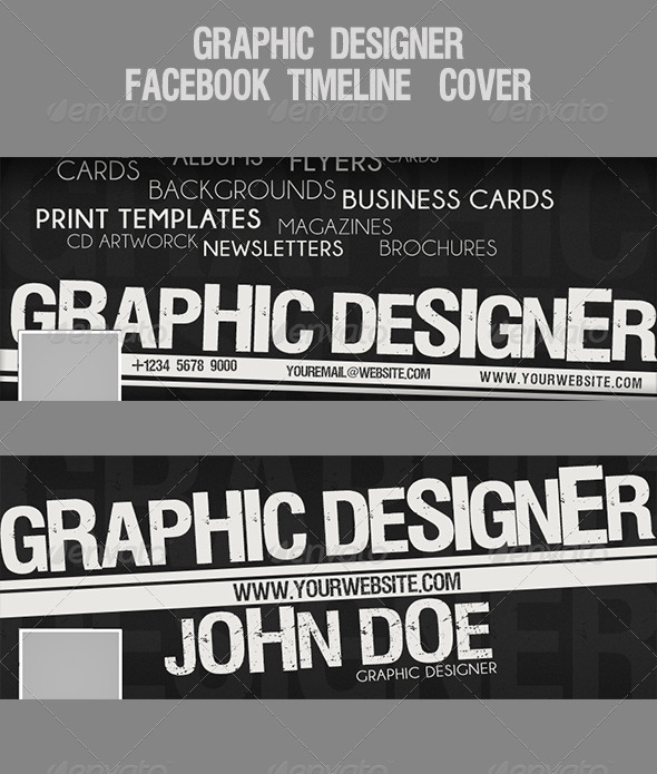Graphic Designer Facebook Timeline-Cover - Facebook Timeline Covers Social Media