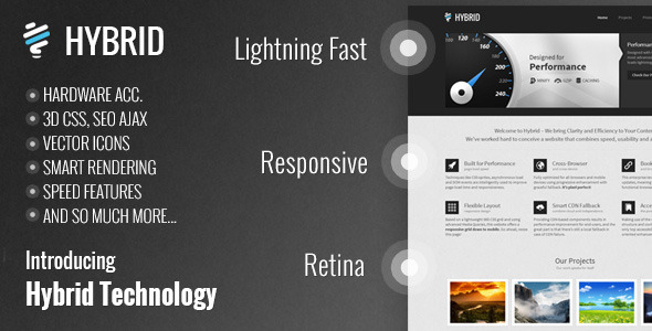 Hybrid Responsive Retina One-Page WordPress Theme! - Business Corporate