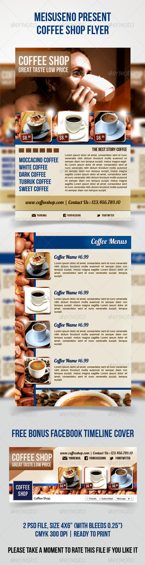 GraphicRiver Coffee Shop Flyer 4577602