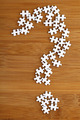 Question mark made by puzzle on wood background - PhotoDune Item for Sale