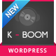 K-BOOM - Events &amp;amp; Music Responsive WordPress Theme - ThemeForest Item for Sale