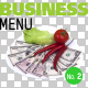 Business Menu No.2 on Transparent Backgrounds - GraphicRiver Item for Sale