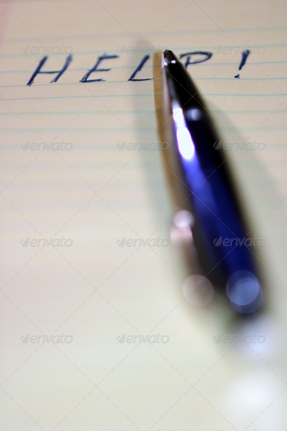 Pen Help - Stock Photo - Images