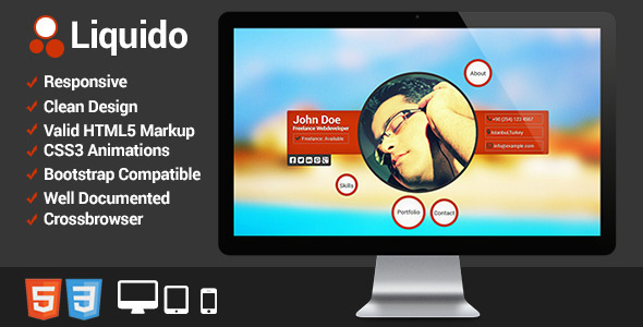 ThemeForest Liquido Responsive Personal Website 4701744